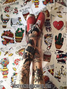 old school tattoos rosey jones