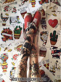 old school tattoos rosey jones