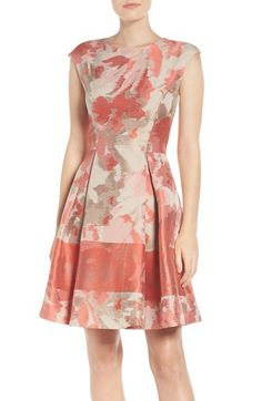 Vince Camuto Vince Camuto Jacquard Fit & Flare Dress available at #Nordstrom