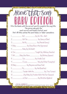 Instant download baby shower game! Have fun filling in the blanks to win a prize (hint: baby or babe is most likely in the title!)