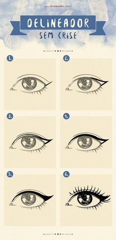 9 infográficos para você se tornar uma expert em maquiagem It is not always easy to draw a perfect eyeliner or collar false eyelashes. If you have ever had any of these difficulties, this is for you! Beauty Make-up, Make Beauty, Beauty Hacks, Professionelles Make Up, How To Make Hair, Makeup Tips, Hair Makeup, Make Tutorial, Make Up Videos