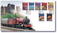 Harry Potter stamps collectable featuring the Hogwarts Express and book cover stamps. Perfect gift, limited edition!