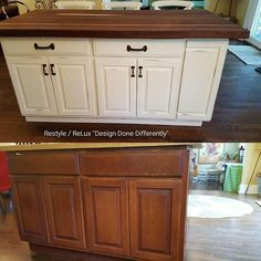 Before and after photos! Amazing what a little paint can do to changing the look of your kitchen. This is from a custom paint project done by our Restyle Team! Love the results! https://www.instagram.com/p/BINhw3FhK6d/#utm_sguid=126328,deb5d7e6-9484-2138-188a-1ba08a9f0a7e