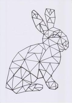 Osterhase geometrisch von www.frau-liebling… Easter bunny geometric from www. Easter Art, Easter Crafts For Kids, Easter Bunny, Bunny Bunny, Bunny Art, Diy And Crafts, Arts And Crafts, Travel Wall Art, Geometric Poster