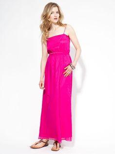 Miguelina Rhodana Silk Chiffon Maxi Dress
