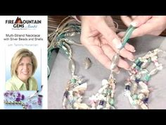 Make a Multi-Strand Necklace with Silver Beads and Shells with Tammy Honaman.