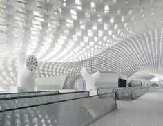 T3 Shenzhen Bao'an Airport :: Studio Fuksas Honeycomb Skin Wraps Fluid Public Spaces