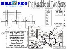 Parable of Two Sons crossword puzzle Ministry Ideas, Youth Ministry, Word Search Puzzles, Prodigal Son, Crossword Puzzles, Bible Words, Bible Teachings, Bible Crafts, Class Projects