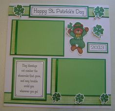 1 PRE Made 12 X 12 Baby'S 1st ST Patrick'S DAY Scrapbook Page Holiday | eBay
