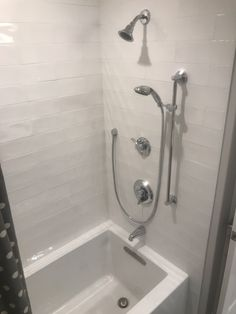 Kohler deep soaker tub and Moen hand shower for easy dog baths. Craftsman Garage Door, Soaker Tub, Decor, Deep Soaker Tub, Hand Shower, Renovations, Soaker, Tubs And Showers, Home Reno