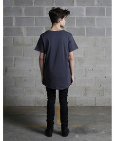 Profound Aesthetic/プロファウンド・エステティック - ベーシックTシャツ (ガンメタル・グレー) Basic T shirt Gunmetal Grey  - ファッション通販セレクトショップ SIAMESE/サイアミーズ