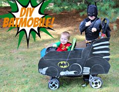 Cute idea for Halloween-- dress up the kids' stroller to coordinate with their costumes! | Just a Girl and Her Blog