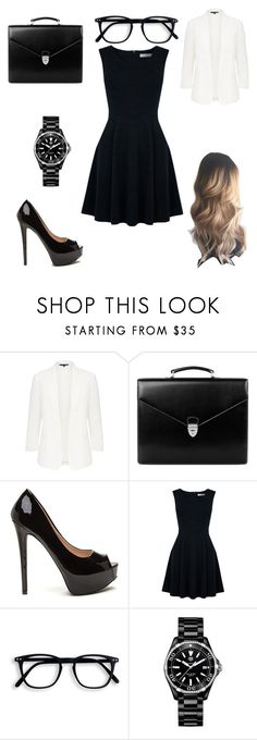 """court is now in session"" by a-hidden-secret ❤ liked on Polyvore featuring Aspinal of London, Oasis and TAG Heuer"