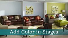 Step-by-step: Decorate and add Color to your Living Room in Stages to create the perfect room.