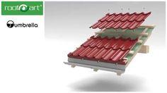 RoofArt - Video montaj tigla metalica UMBRELLA Dublu modulara