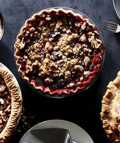 Cranberry-Strawberry Crumb Pie.