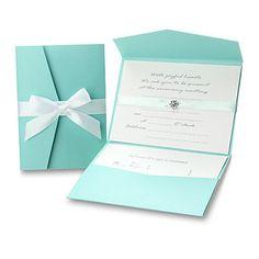 Papel Perla Classic invitación de la boda y tarjetas de la respuesta con arco - Set de 12 (más colores) - EUR € 15.34