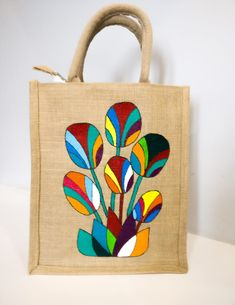 Best 12 Fc just bag – SkillOfKing. Saree Painting, Fabric Painting, Fabric Art, Jute Tote Bags, Canvas Tote Bags, Painted Canvas Bags, Fabric Paint Designs, Hand Painted Fabric, Bag Patterns To Sew