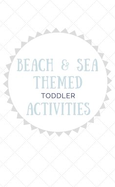 28 best Beach and Sea Themed Toddler Activities images on