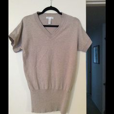 Sweater. On Sale $9 Yes, this is exactly like the gray one. Great condition. Very soft and great for work or play. Long enough to wear with leggings. Buy both the gray and the beige for $18 or one for $9. Ambiance Apparel Sweaters V-Necks