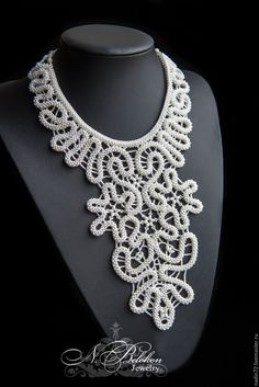 Buy Lace beaded necklace on Livemaster online shop