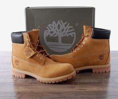 "NEW Timberland 6"" Premium Men's Boots 10.5 MED Wheat Nubuck TB010061 Waterproof"