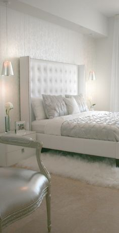 All white bedroom ideas simple white bedroom ideas simple all white bedroom decor remarkable small bedroom decoration black and white bedroom decorating White Bedroom Design, White Bedroom Decor, Modern Bedroom, Bedroom Ideas, White Bedrooms, Bedroom Designs, Master Bedrooms, Silver Bedroom, Neutral Bedrooms