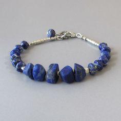 Lapis Lazuli Bracelet Sterling Silver Bead DJStrang por DJStrang
