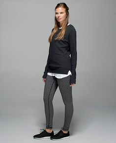 lululemon Wunder Under Pant | tri geo silver spoon black
