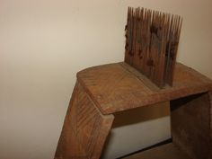 Primitive Old Hand Made Carved Big Wooden Carder Comb for Wool Yarn Comber   eBay