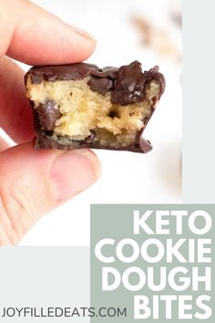 If you love cookie dough these Frozen Keto Cookie Dough Bites will make your dreams come true. They are super easy to make and store for months in the freezer (if they last that long). These healthy cookie dough bites are the perfect sweet bite to end your days. This easy recipe is low carb, keto, gluten-free, grain-free, sugar-free, and Trim Healthy Mama friendly. Sugar Free Desserts, Low Carb Desserts, Gluten Free Desserts, Fun Desserts, Low Carb Recipes, Dessert Recipes, Gluten Free Grains, Low Carb Breakfast, Low Carb Lunch