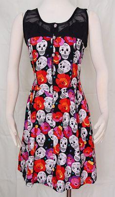 Dia De Los Muertos Dress by Jezenya on Etsy by Jezenya on Etsy