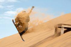 SPORTS: Sandboarding, Namibia.