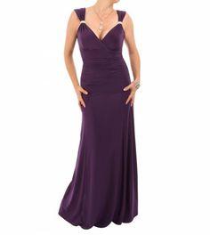 Purple Crystal Diamante Maxi Dress #womensfashion #partywear #eveningwear Justblue.com