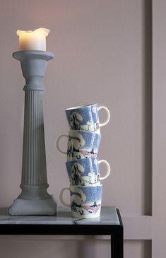 Arabia Moomin mug, Crown Snow-Load Goods And Service Tax, Goods And Services, Moomin Mugs, Tove Jansson, Scandinavian Living, How To Wake Up Early, Nordic Design, Candlesticks, Branding Design
