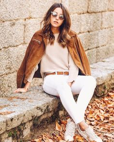 Brown + white + beige #autumn #lovelypepa #lovelypepastyle @cynthiaperi