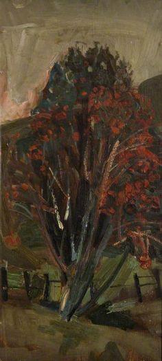 BBC - Your Paintings - Rowan Tree Oil on canvas, 36 x 16.8 cm