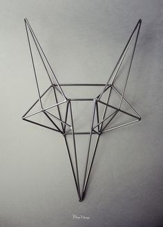 Steel Fox | Smaller Size | Wild Head - Bongo Design - The love for nature expressed in geometry