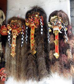 Very Interesting Masks at Gift Shop, Ubud, Bali, Indonesia