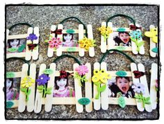 Spring garden picture frame. What do you know, my old tutorial got pinned. WOOT!