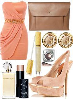 peach/gold