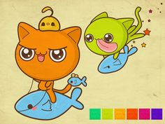cartoons rider fish 1024x768 wallpaper