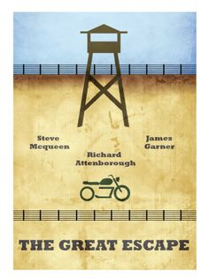The Great Escape (1963) ~ Minimal Movie Poster by David Peacock
