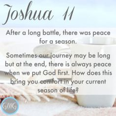 Discussion Questions Joshua 11