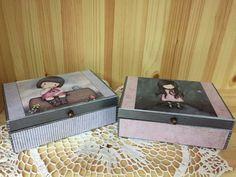 Gorjuss Santoro Pink Blue Box Decoupage