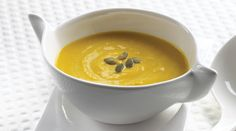 Garlic Squash and Ricotta Soup with Tre Stelle® Extra Smooth Ricotta Cheese Brunch Recipes, Soup Recipes, Cooking Recipes, Recipies, Thanksgiving Soups, Chicken And Butternut Squash, Five Ingredients, Cheese Soup, Soups And Stews