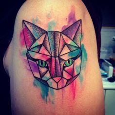 tatuajes de gatos modernos