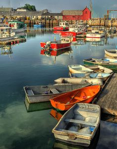 Love all the old row boats in Rockport, Massachusetts.