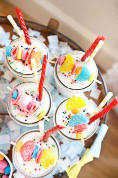 Candy Vanilla Milkshakes - great for a retro themed wedding!