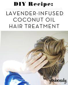 DIY Recipe: Lavender-Infused Coconut Oil Hair Treatment